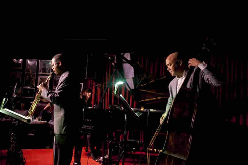 Steve Wilson (saxophone), Renee Rosnes (piano) and Peter Washington (bass).