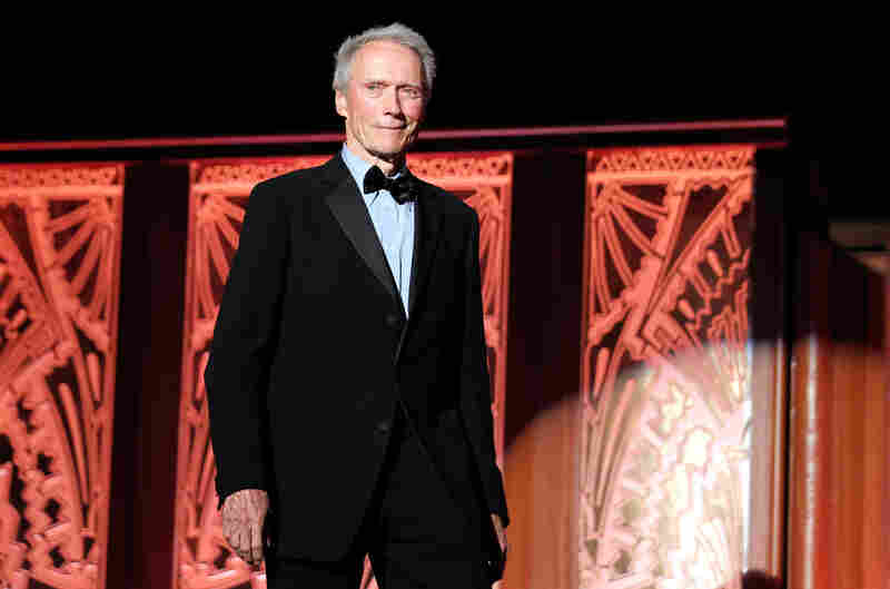 Clint Eastwood, 6 foot 4, speaks onstage at the 39th AFI Life Achievement Award honoring Morgan Freeman on June 9, 2011.