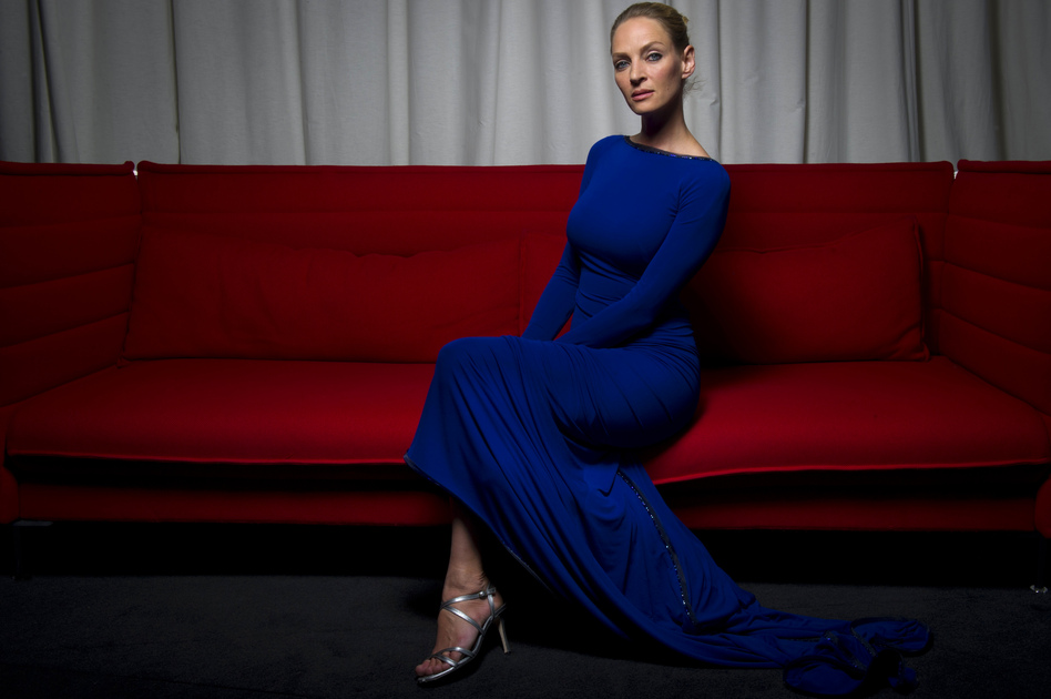 Actress Uma Thurman, 6 feet, poses during a photo session at the 64th Cannes Film Festival on May 22, 2011. (AFP/Getty Images)