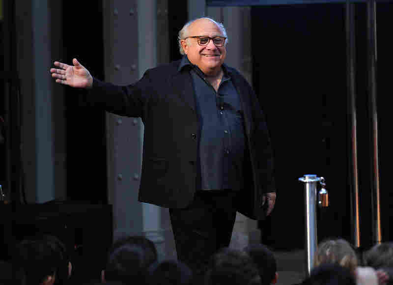 Actor Danny DeVito, 4 foot 10, attends the NEA's Read Across America Day kickoff on March 2.