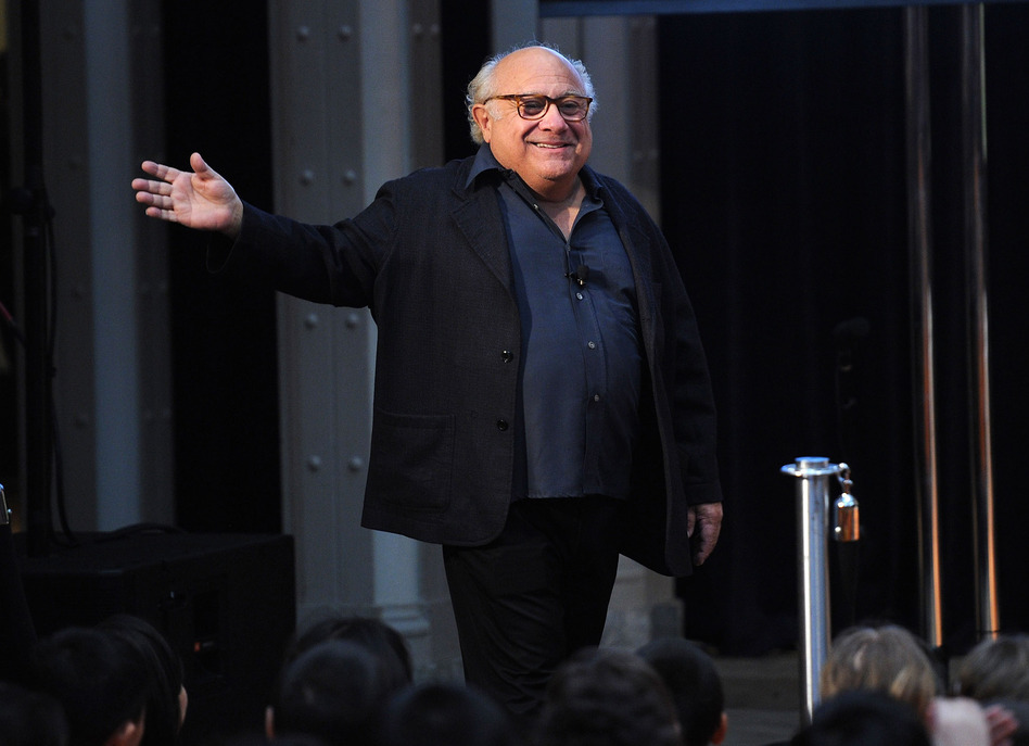 Actor Danny DeVito, 4 foot 10, attends the NEA's Read Across America Day kickoff on March 2. ( Kempin/Getty Images for NEA)