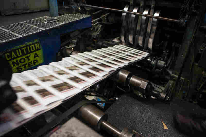 Copies of The Orange County Register slide through the presses. The Register is the country's 20th most-read daily, with a circulation of about 285,000.