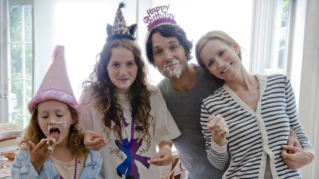 Five years after Judd Apatow's Knocked Up, Paul Rudd and Leslie Mann reprise their roles as married couple Pete and Debbie. Now years into their marriage with two kids (played by Iris and Maude Apatow), Pete and Debbie approach 40 less than gracefully. (Universal Studios)