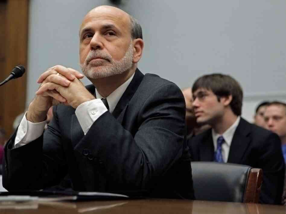 "Federal Reserve Chairman Ben Bernanke testifies before the House Financial Services Committee on Feb. 29, 2012 and adds the phrase ""fiscal cliff"" to the national lexicon."