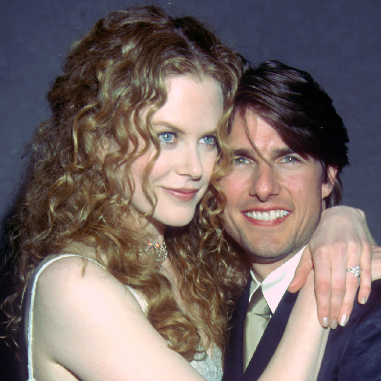Nicole Kidman and Tom Cruise at the Writer's Guild Awards in Beverly Hills in 1998.
