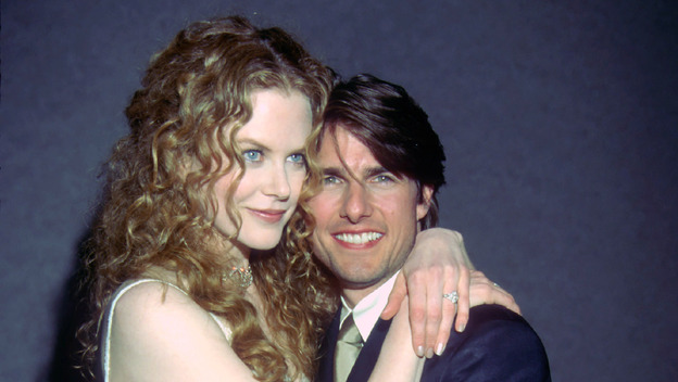 Nicole Kidman and Tom Cruise at the Writer's Guild Awards in Beverly Hills in 1998. (Landov)