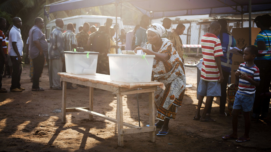 Ghanaians vote in presidential and parliamentary elections on Friday. (AP)