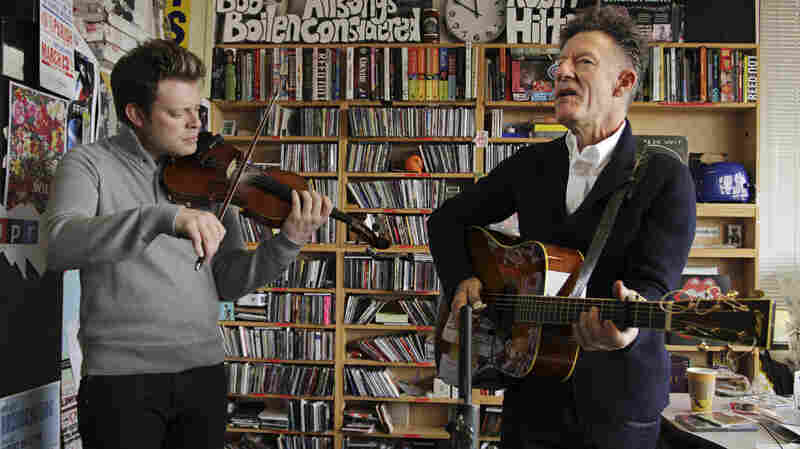 Lyle Lovett performs a Tiny Desk Concert on Nov. 13, 2012.