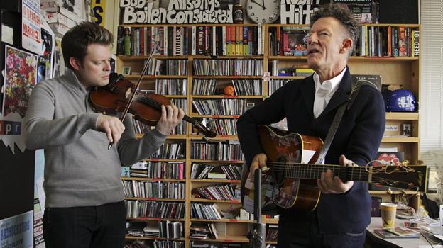 Lyle Lovett performs a Tiny Desk Concert on Nov. 13, 2012. (NPR)