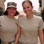 Marilyn Gonzalez (left) and her daughter, Jessica Pedraza, at their base in Kuwait in 2010.