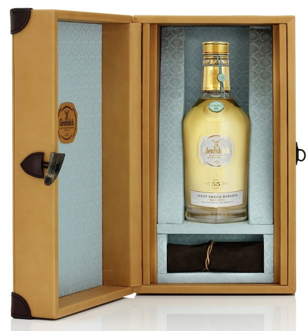 Glenfiddich's world-record-breaking Janet Sheed Roberts Reserve. The last of 15 bottles goes up for auction on Tuesday.