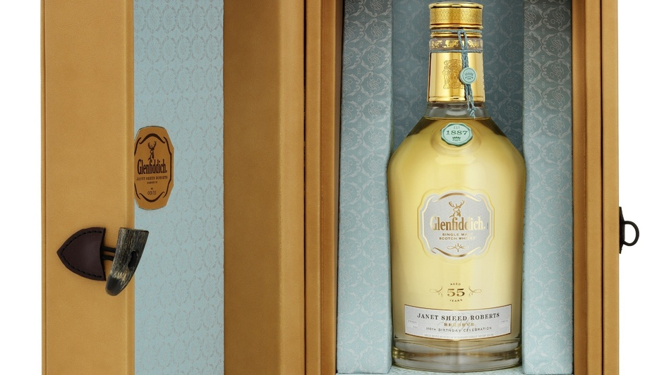 Glenfiddich's Janet Sheed Roberts Reserve. The last bottle goes up for auction on Tuesday. (Courtesy Glenfiddich)