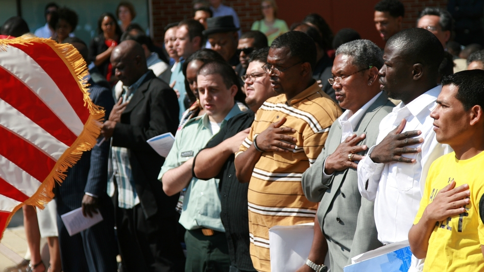 As part of the National Immigration Integration Conference, nearly 50 new American citizens were sworn in Sept. 22. (NPR)