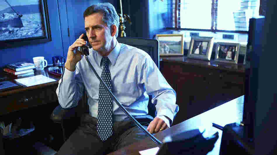 Sen. Jim DeMint, R-S.C., talks on the phone in his Capitol Hill office on Dec. 6, the day he announced he will resign from the Senate and lead the Heritage Foundation.