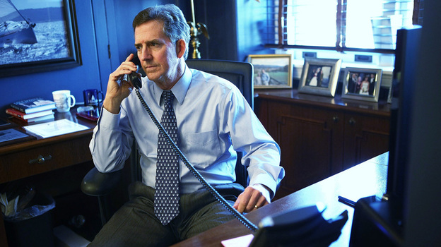 Sen. Jim DeMint, R-S.C., talks on the phone in his Capitol Hill office on Dec. 6, the day he announced he will resign from the Senate and lead the Heritage Foundation. (Getty Images)