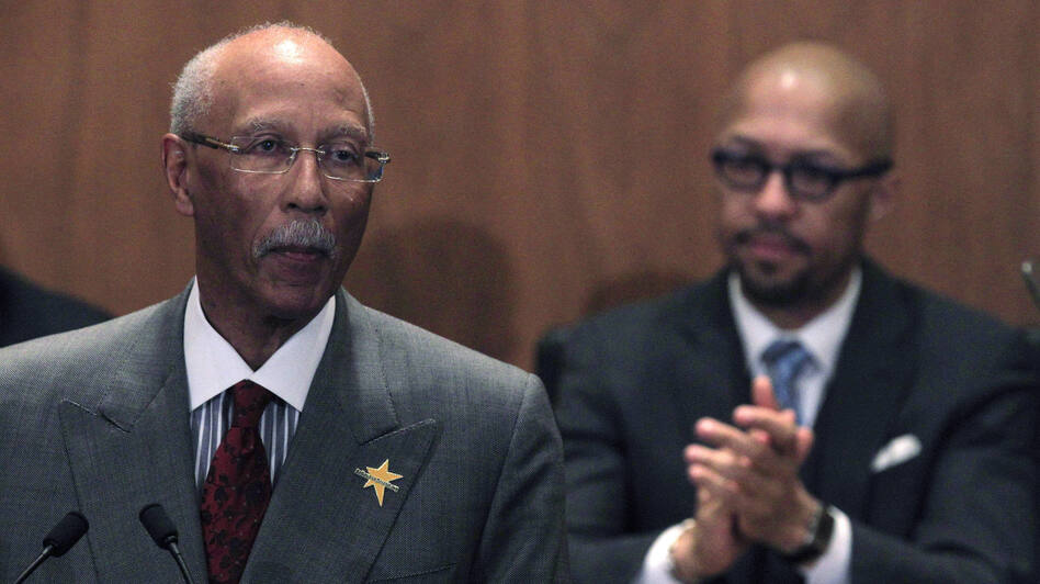 Detroit Mayor Dave Bing delivers his State of the City address on March 7. If Bing and the City Council can't agree on a plan to reduce the city's budget deficit, state officials are poised to take away their power over Detroit's finances.