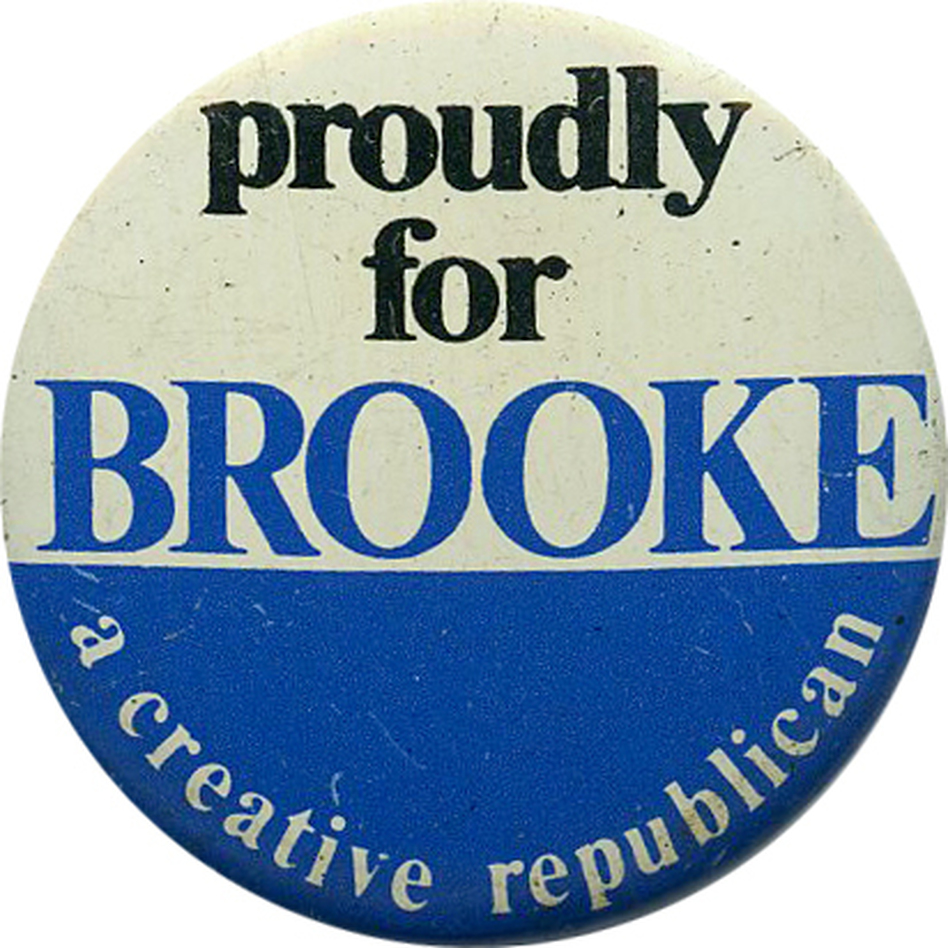 Brooke is the only black Republican in the Senate since Reconstruction. (Ken Rudin collection)