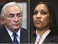 Former IMF leader Dominique Strauss-Kahn and Nafissatou Diallo, who accused him of sexual assult. Lawyers for both sides will appear in court on Monday in Diallo's civil suit against Strauss-Kahn.