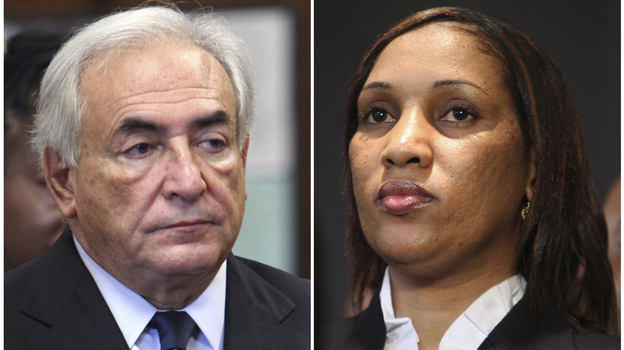 Former IMF leader Dominique Strauss-Kahn and Nafissatou Diallo, who accused him of sexual assult. Lawyers for both sides will appear in court on Monday in Diallo's civil suit against Strauss-Kahn. (AP)