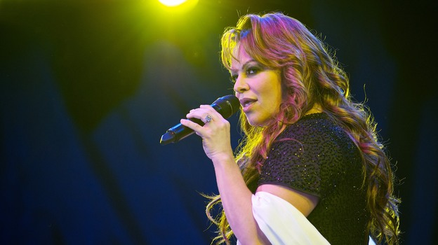 Jenni Rivera performs at the Lilith Fair in 2010 in San Diego. (Getty Images)