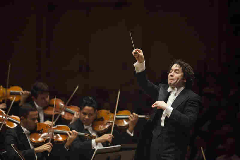 Gustavo Dudamel conducts the Simón Bolívar Symphony Orchestra of Venezuela at Carnegie Hall in New York. It's an orchestra he's directed for 14 years, since he was just 17 years old.