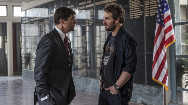 CIA operative Joseph Bradley (Kyle Chandler) discusses a sensitive operation with Dan (Jason Clarke). (Sony Pictures)