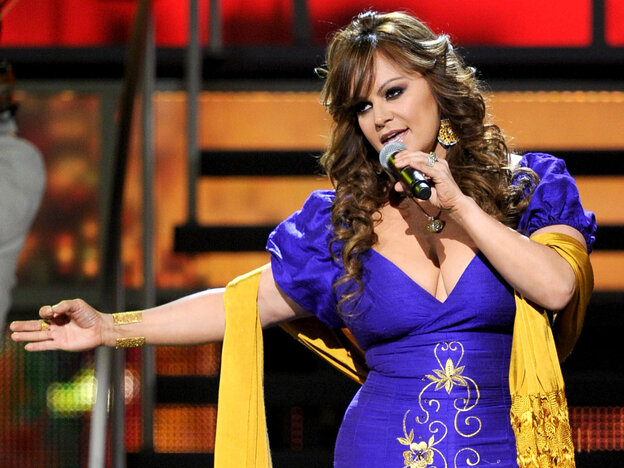 Singer Jenni Rivera at the 11th annual Latin GRAMMY Awards in 2010.