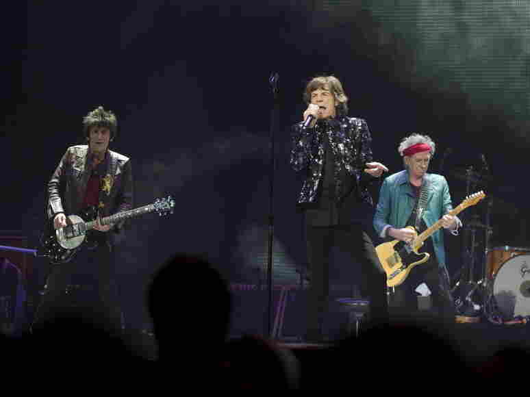 The Rolling Stones perform at the Barclays Center in Brooklyn on Dec. 8.