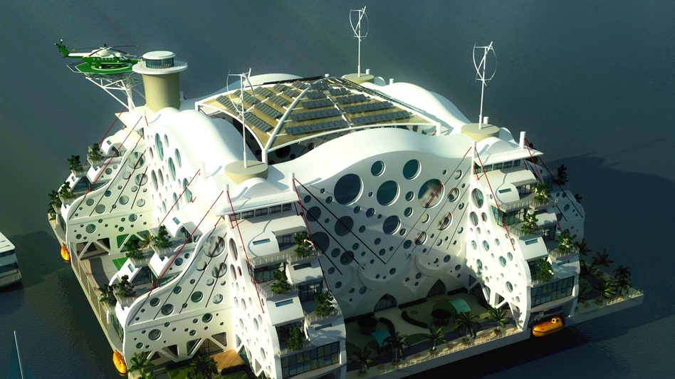 A winning entry in the Seasteading Design Contest by Emerson Stepp. (Courtesy of The Seasteading Institute)