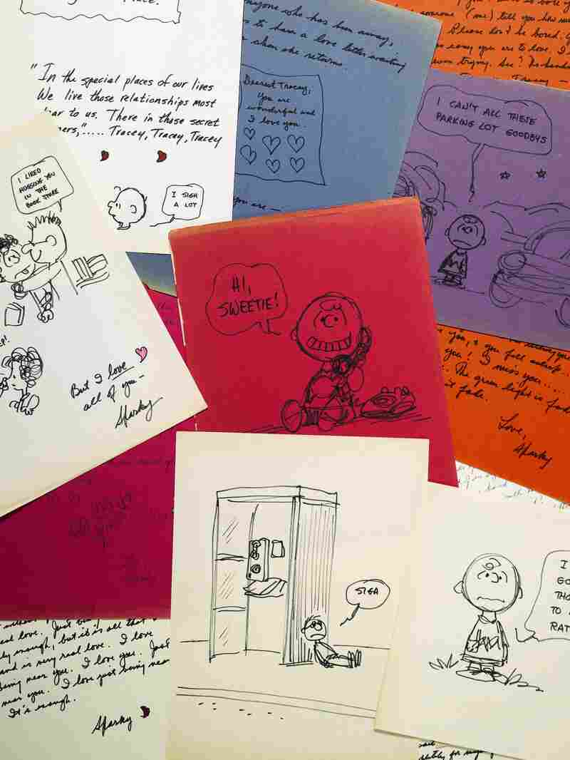 Sotheby's is putting up for auction letters and drawings that Charles Schulz, the creator of Peanuts, gave to Tracey Claudius.