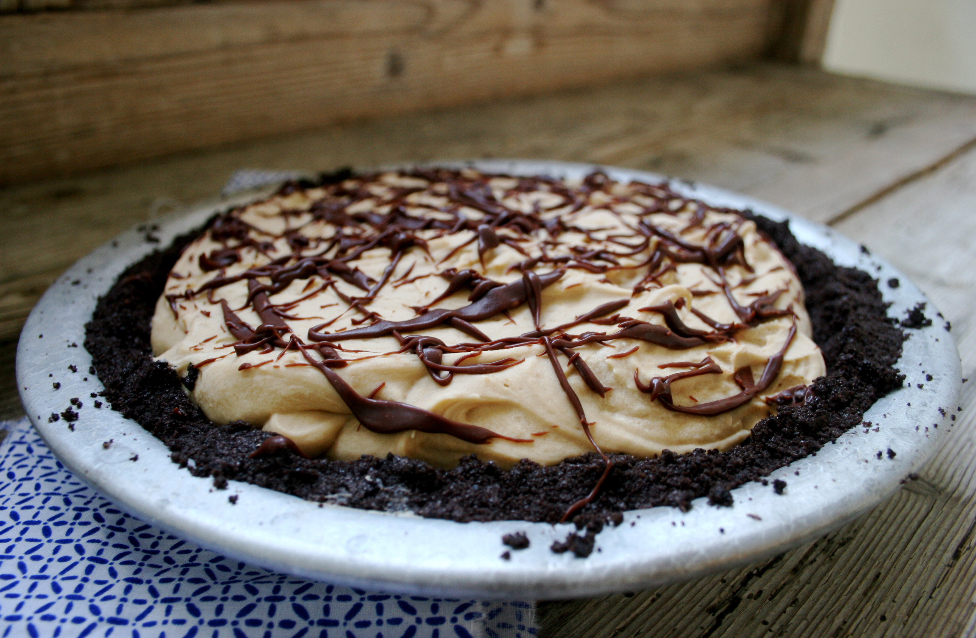 Speculaas Pie With Chocolate Ganache