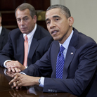 President Obama and House Speaker John Boehner, R-Ohio, at the White House on Nov. 16.