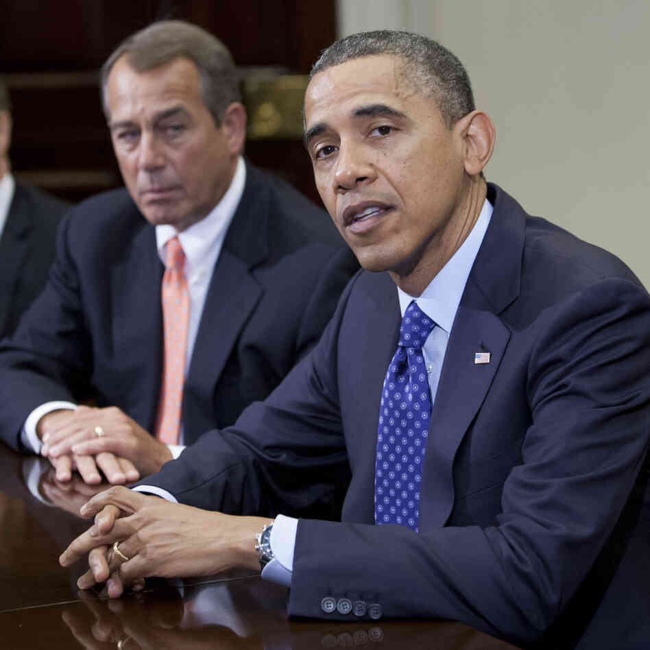 President Obama and House Speaker John Boehner, R-Ohio, at the White House on Nov.
