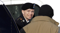 Army Pfc. Bradley Manning is escorted into the courthouse on Nov. 28.