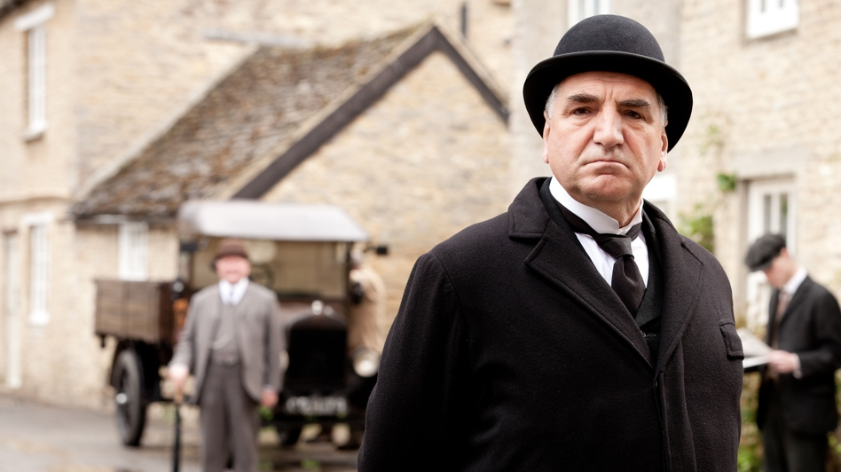 Jim Carter as Mr. Carson in Downton Abbey. The third season premiered on PBS Sunday. (WGBH/PBS)