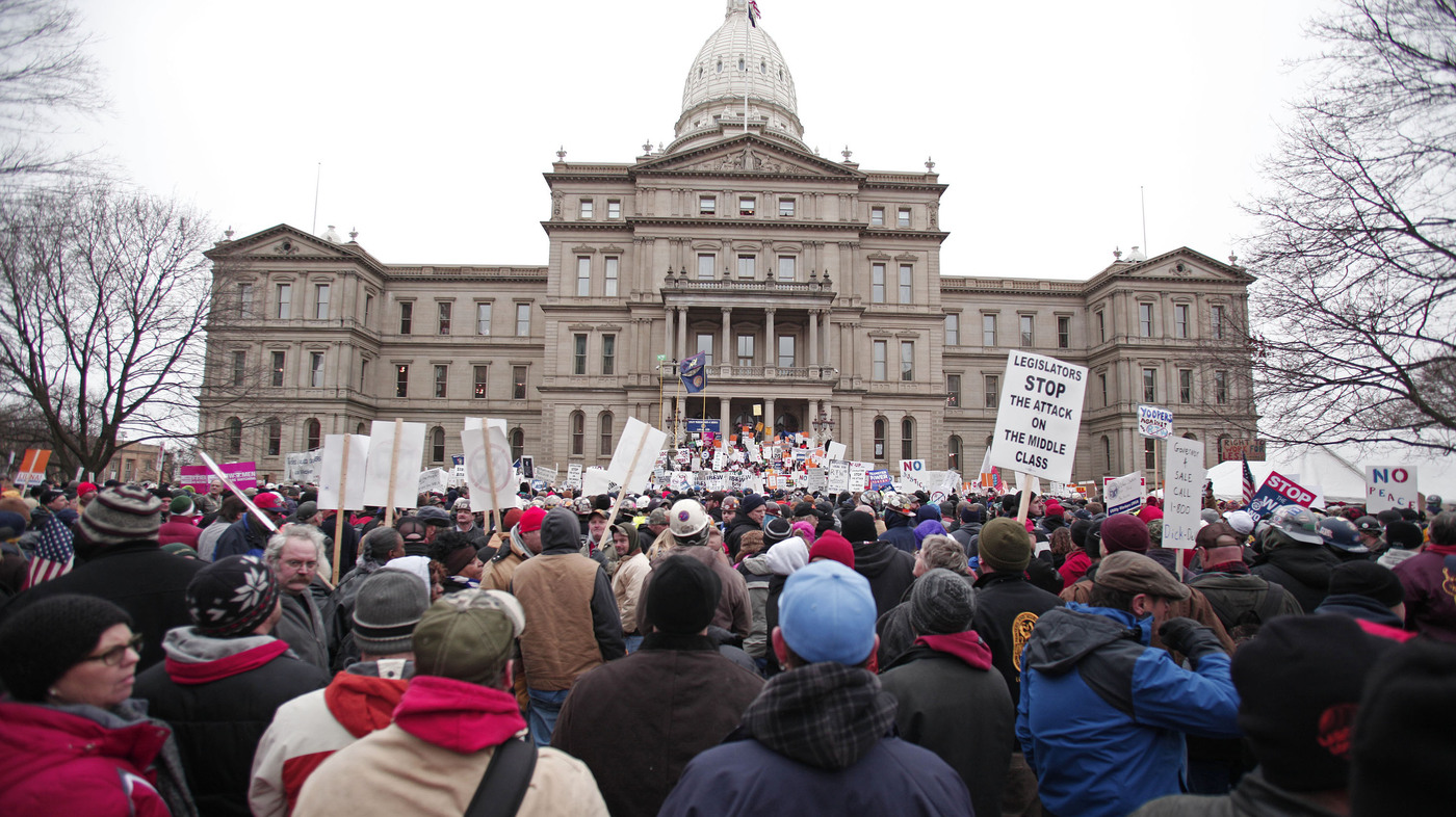 Michigan Governor Signs Right-To-Work Bills Into Law : The Two-Way ...