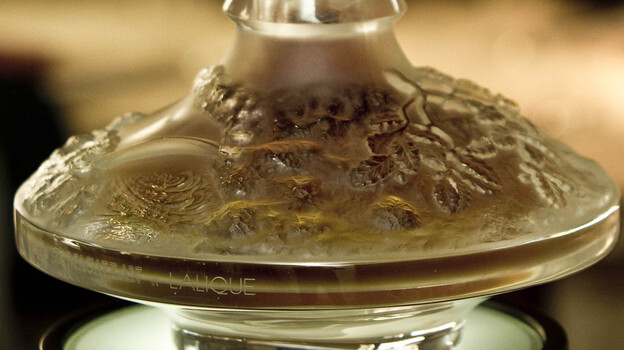 The record-holder, according to Guinness: A bottle of 64-year-old Macallan whisky in a Lalique Cire Perdue decanter. In 2010 it sold for $460,000. (Alpha /Landov)