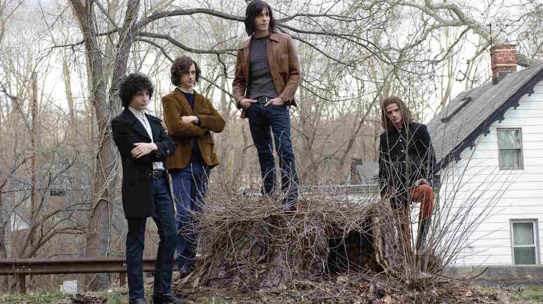John Magaro (left), Brahm Vaccarella, Jack Huston and Will Brill play aspiring rock stars in Not Fade Away.