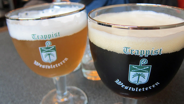 Beers made by Trappist monks at St. Sixtus Abbey's Westvleteren Brewery in Belgium are sought by connoisseurs. For the first time, the monks are exporting the beer overseas, including to the U.S. (Courtesy of Mark Lampert)