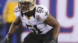 New Orleans Saints linebacker Jonathan Vilma.