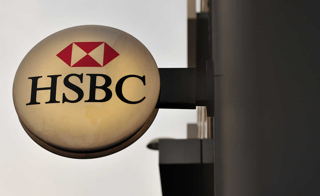 A picture shows the logo on an HSBC branch on Dec. 5, 2011. Britain's financial regulator said on Dec. 5 that it had fined HSBC 10.5 million British pounds after one of the banking giant's subsidiaries missold financial retail products to elderly clients.