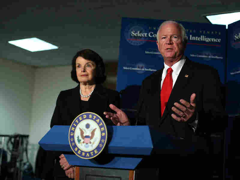 Sen. Dianne Feinstein, D-Calif., and Sen. Saxby Chambliss, R-Ga., have opposing views about a report detailing CIA detention and interrogation practices.