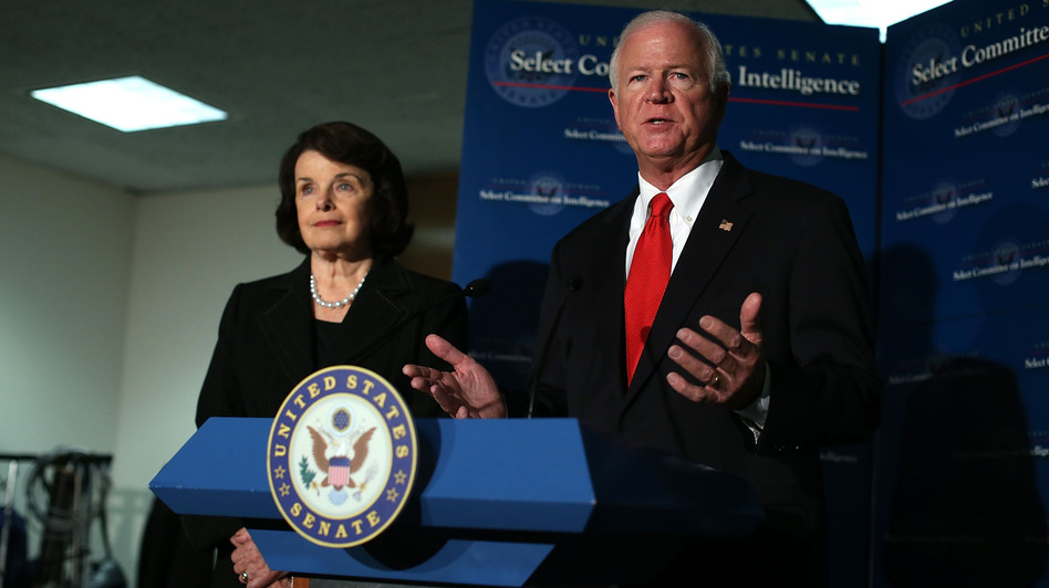 Sen. Dianne Feinstein, D-Calif., and Sen. Saxby Chambliss, R-Ga., have opposing views about a report detailing CIA detention and interrogation practices. (Getty Images)