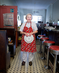 Dorothy's parents opened Schnackenberg's Luncheonette in 1927; she has worked there since she was a kid.