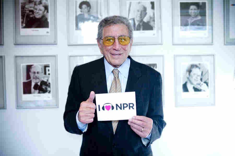 Tony Bennett at NPR's New York Bureau.