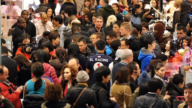 "The crowded scene on ""Black Friday"" at Macy's in Manhattan. The U.S. population is projected to hit 400 million in 2051, Census says, up from 321 million in 2015. (AFP/Getty Images)"