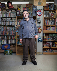 Stefan, owner of Babylon Comic Books, which closed after Hurricane Sandy