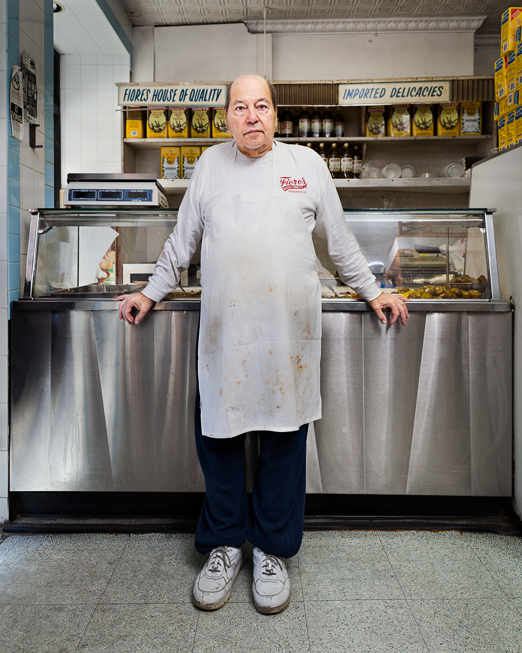 "John, owner of Fiore's Deli, which claims to have the best ""mutz,"" or mozzarella"