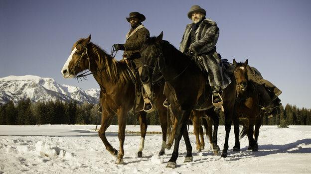 Christoph Waltz (right, with Jamie Foxx) stars in Quentin Tarantino's new film Django Unchained.