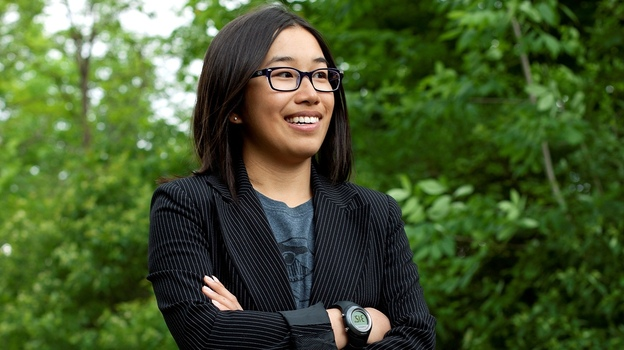 Eden Full took time off from her studies at Princeton University to work on her startup full time, after being selected for the inaugural class of the 20 Under 20 Thiel Fellowship. (Della Rollins )